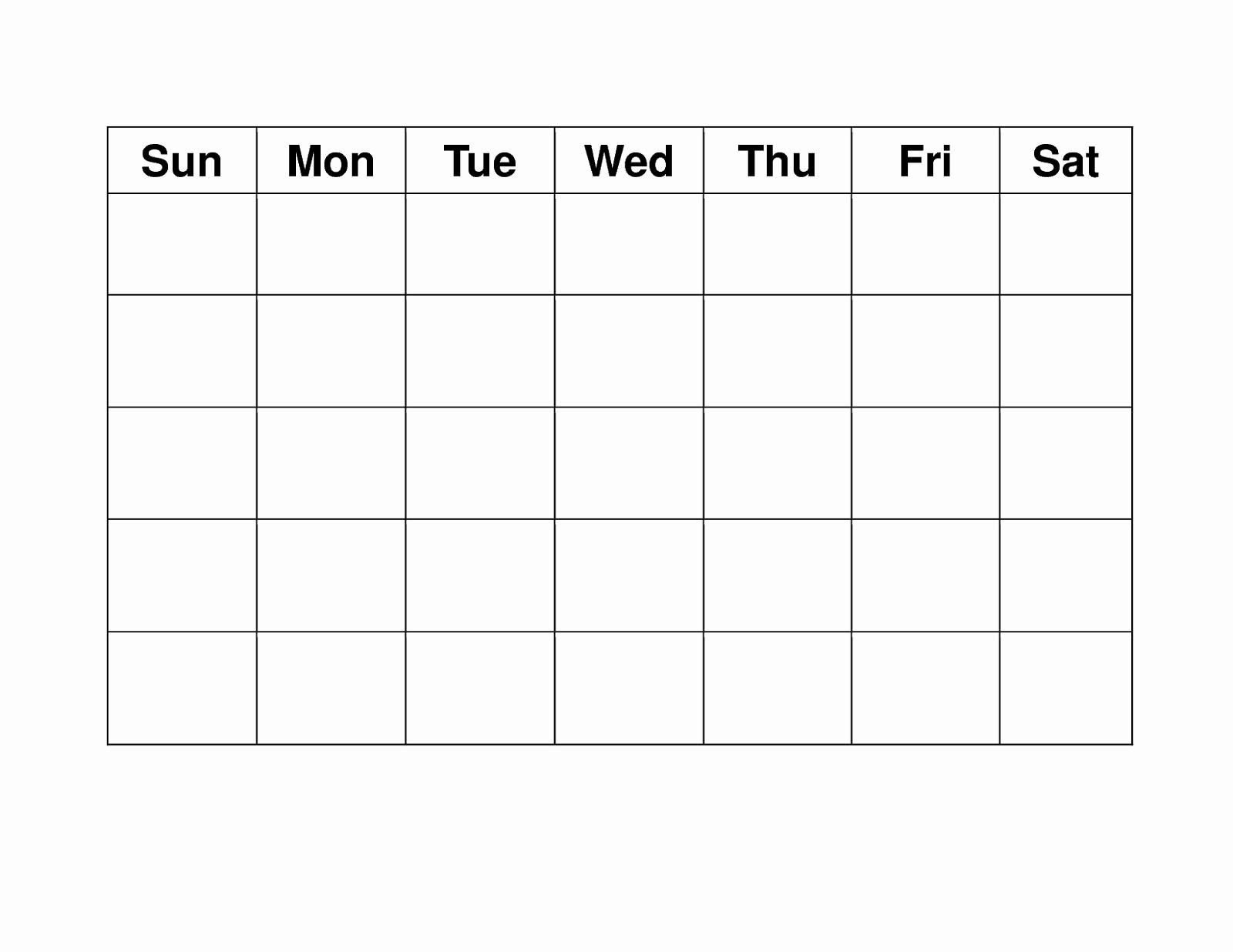 Blank Calendar Monday Through Sunday - Calendar Printable Free Blank Monday Through Sunday Schedule