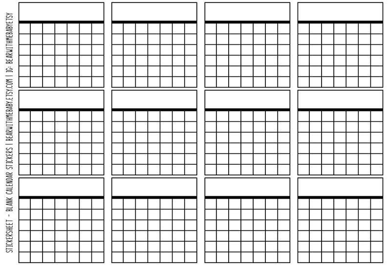 Blank Calendar Planner Stickers Calendar Planner Stickers Where R My Blank Calendars