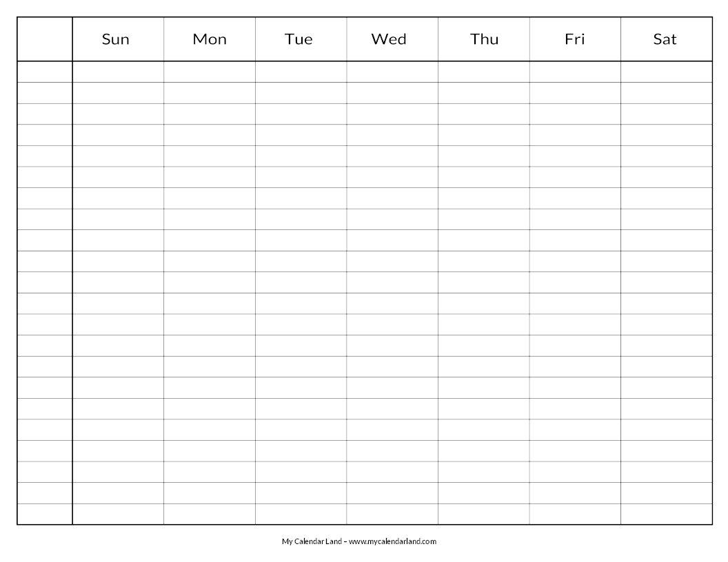 Blank Calendar Printable - My Calendar Land Print 8 Week Calendar
