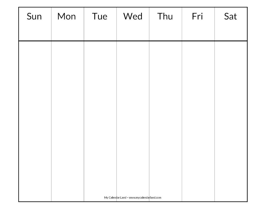Blank Calendar Printable - My Calendar Land Weekly 2 Page Calendar
