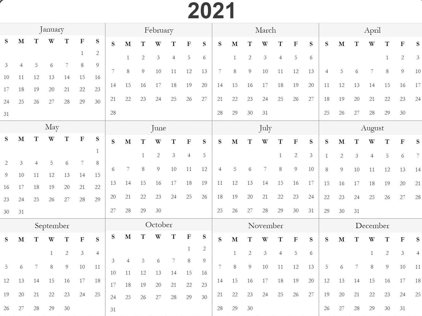 Blank Fill In Calendars 2021 Printable | Calendar Large Printable Fill In Calender