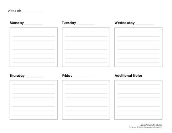 Blank Lined Weekly Calendars :-Free Calendar Template Blank Lined Calander Templates