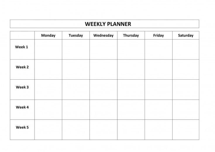 Blank One Month Calendar Template Awesome Blank Weekly Free Blank 1 Week Calendar Monday Through Friday