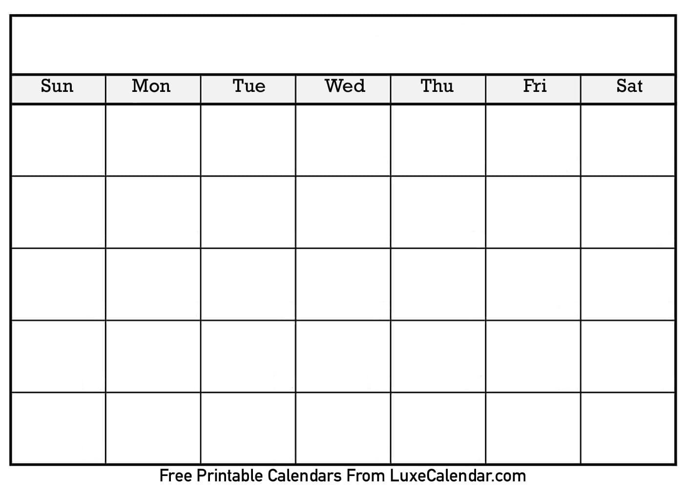 Blank Printable Calendar   2020Calendartemplates Short Timer Calendar Template