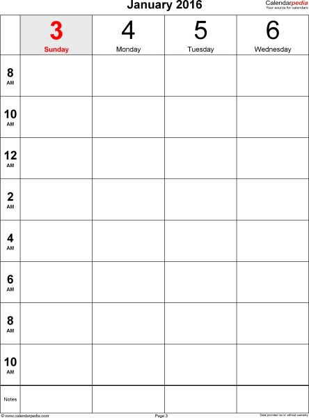 Blank Workbook Page Template 8 1/2 X 11 | Printable How To Print A Calendar Full Page 8 X 11