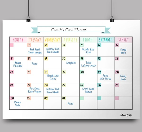 Calendar Monthly Planner - Free Printable On Behance Free Monthly Task Calendar Template