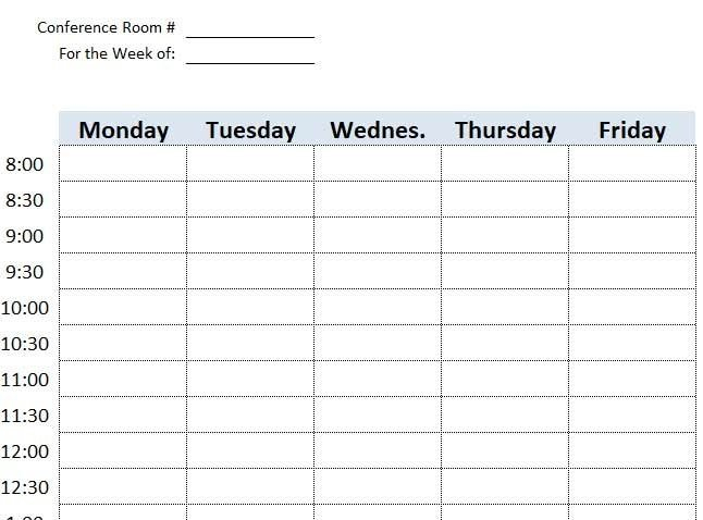 Calendar Template For Scheduling A Conference Room Image Calendar For Campground Reservations Excel Spreadsheet