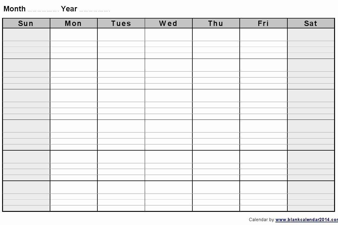 Calendar Week To Print | Month Calendar Printable Two Week Calendar Template Free