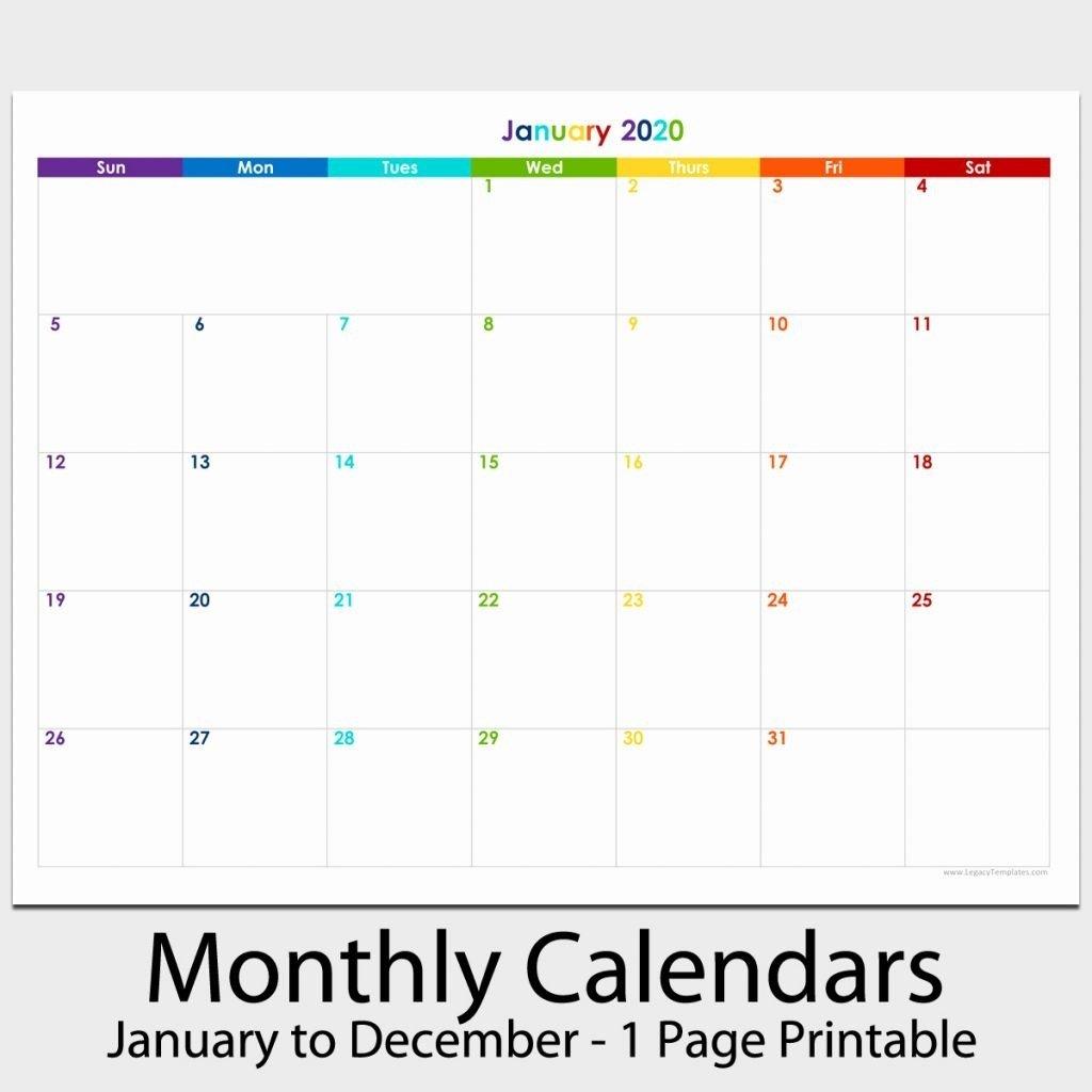 Catch Printable Calendar 2020 December 5.5 X 8.5 11 X 17 April Calendar