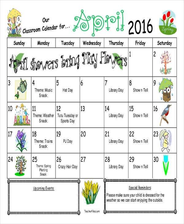 Classroom Calendar Printables – Calendar Templates Free Calendar Templates For Teachers
