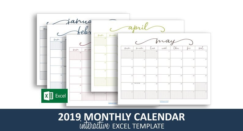 Color Coded Calendar 2019 | Colorpaints.co Free Color Coded School Calendar Template