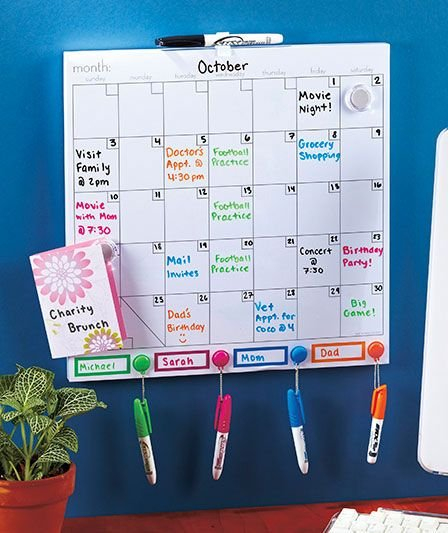 Color-Coded Dry Erase Calendar Set | Abc Distributing Free Color Coded School Calendar Template