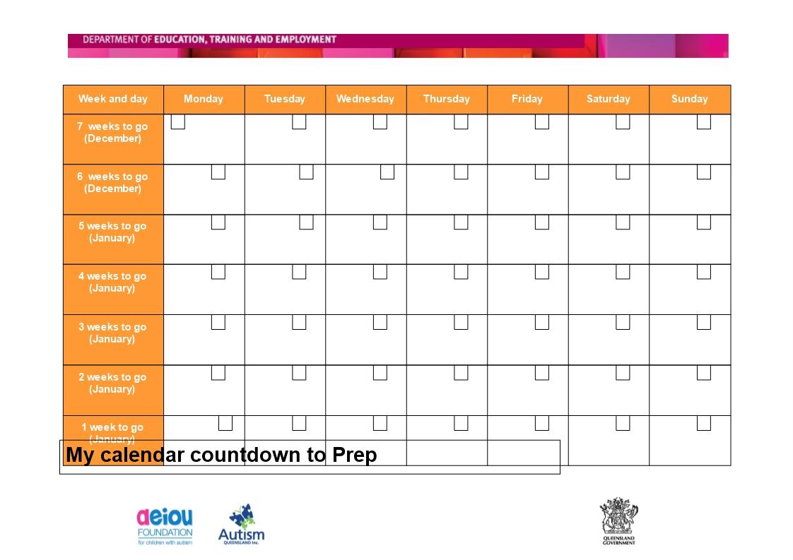 Countdown Calendar In Weeks • Printable Blank Calendar Free 365 Day Countdown Calendar Days