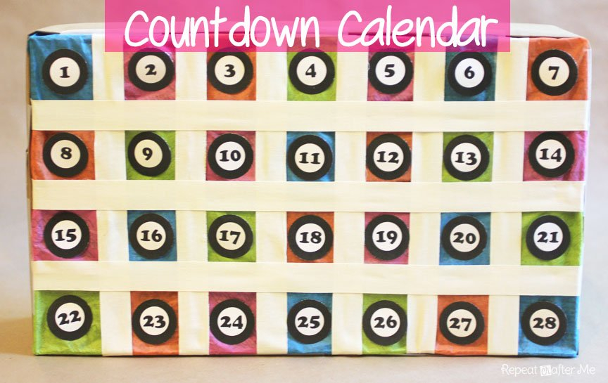 Countdown Calendar - Repeat Crafter Me Free 365 Day Countdown Calendar Days