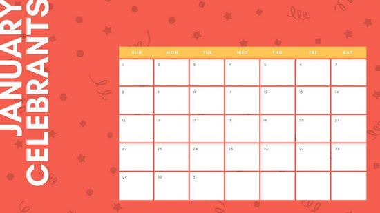 Customize 32+ Birthday Calendar Templates Online - Canva Online Birthday Calenders To Fill In