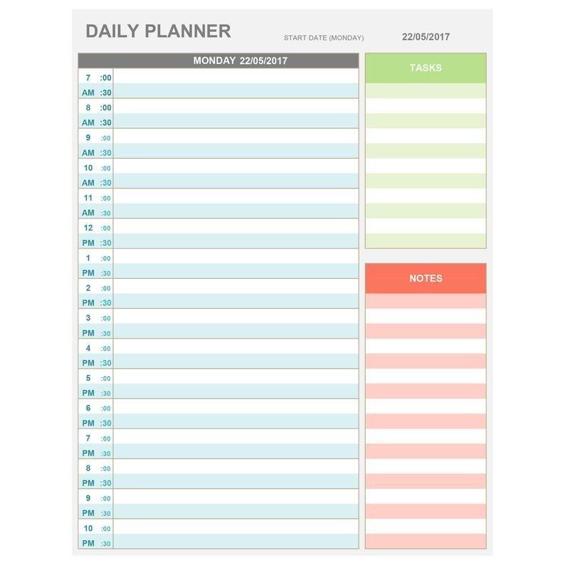 Daily Calendarhour :-Free Calendar Template Daily Hourly Calendars To Print