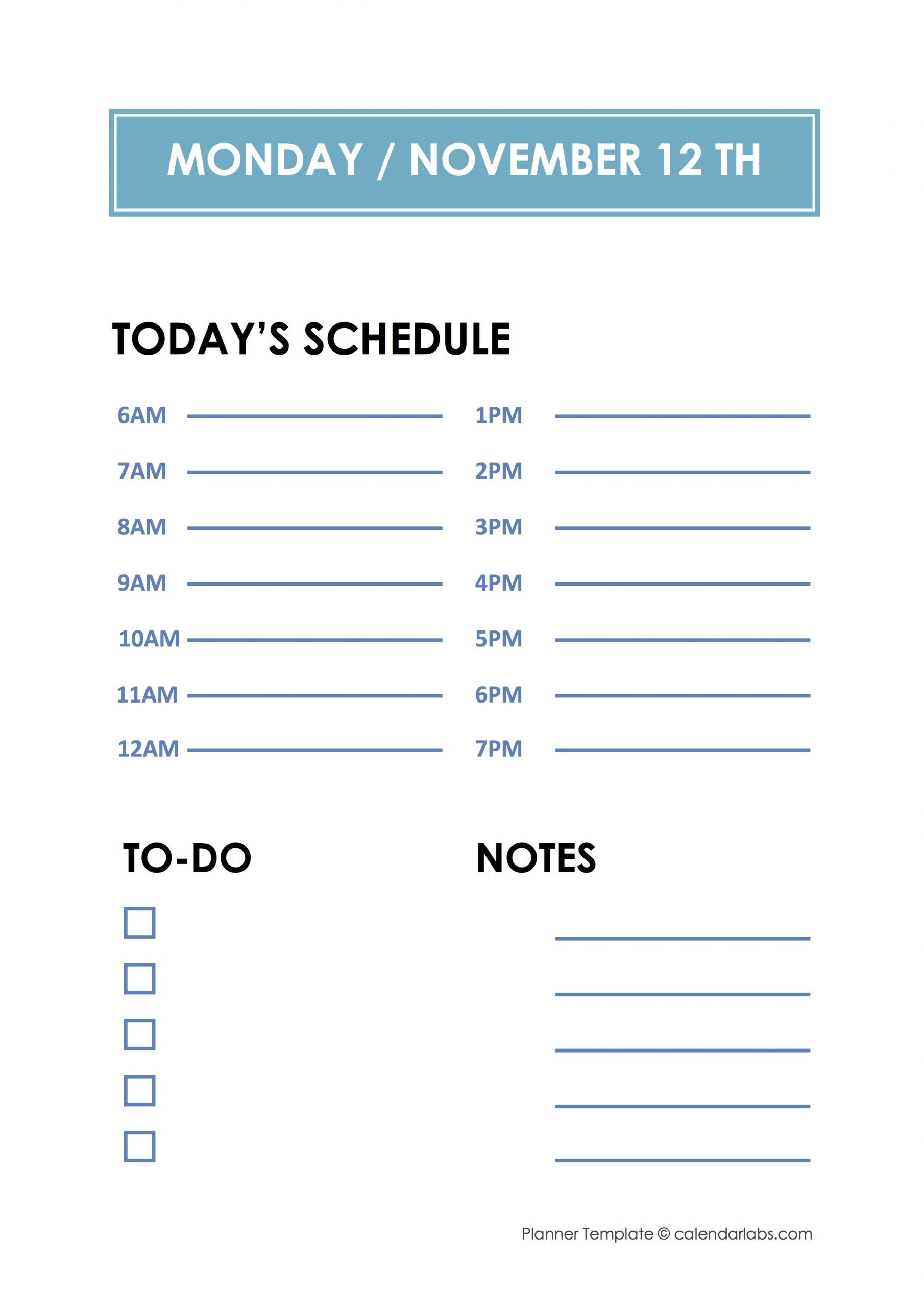 Daily Hourly Planner Template - Free Printable Templates Printable Daily Hourly Calenders