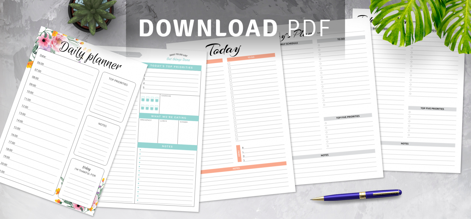 Daily Hourly Planner Templates Printable Daily Hourly Calenders