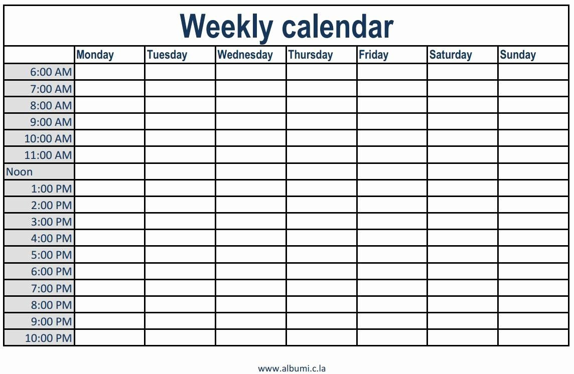 Daily Planner Template 2016 Lovely 4 Empty Weekly Blank Short Timer Calendar Template