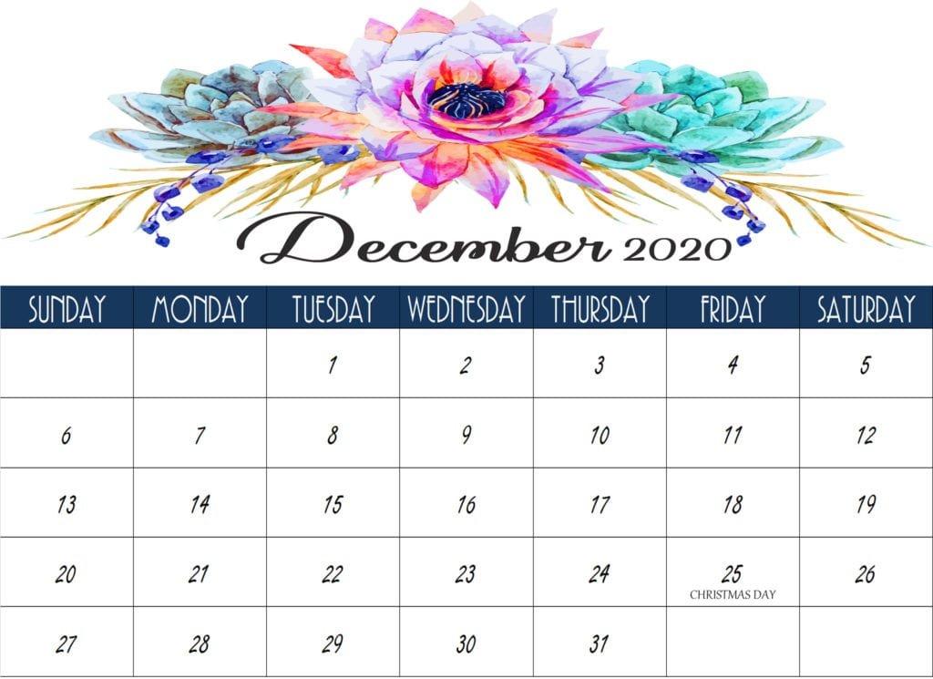 December 2020 Calendar Printable, Editable, With Holidays Free 2020 Checkbook Size Calendar Same Size As A Check For The Year