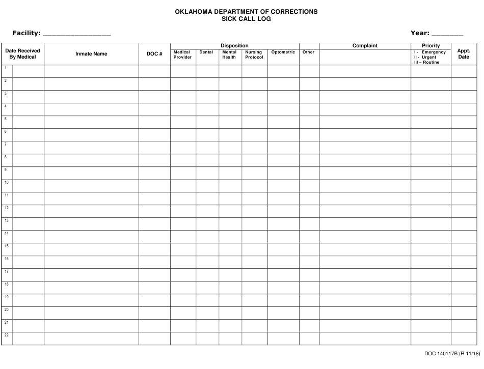 Doc Form Op-140117B Download Printable Pdf Or Fill Online Free Caolendar To Fill In Online