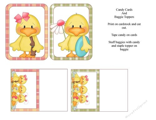 Ducky Candy Cards & Bag Toppers - Cup723774_1548 Printable Cupcakes With Numbers 1-31