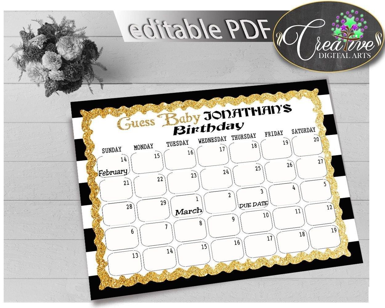 Due Date Guess February Calendar | Calendar Template 2021 Baby Calendar Free Guess
