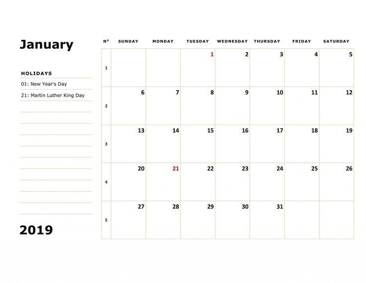 Editable January 2020 Calendar Printable Template With 12 Month Calendar Editable Templates