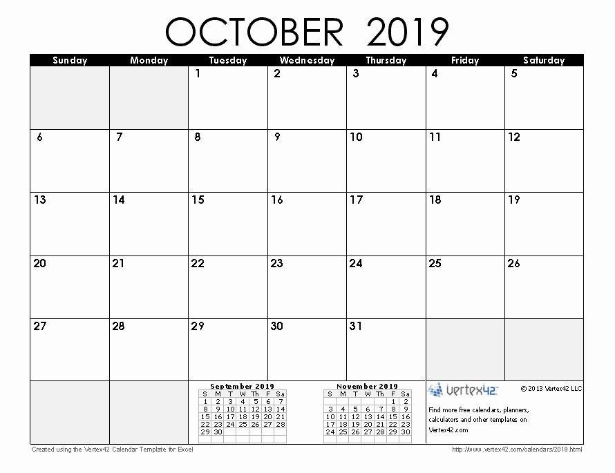 Elegant 31 Examples October 2019 Calendar Printable Large 31 Day Blank Calendar Printable