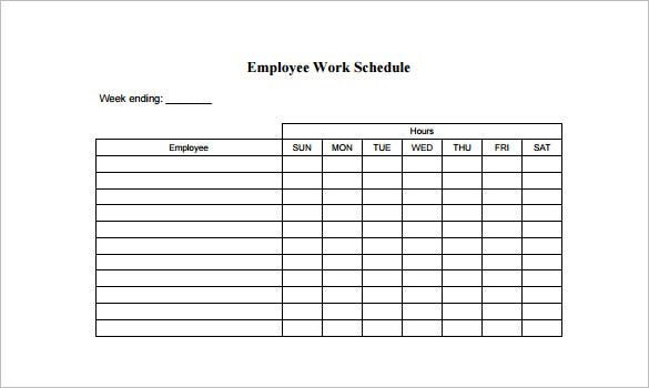 Employee Schedule Template - 14+ Free Word, Excel, Pdf Calendares To Print That Have The Week M Thru Sunday