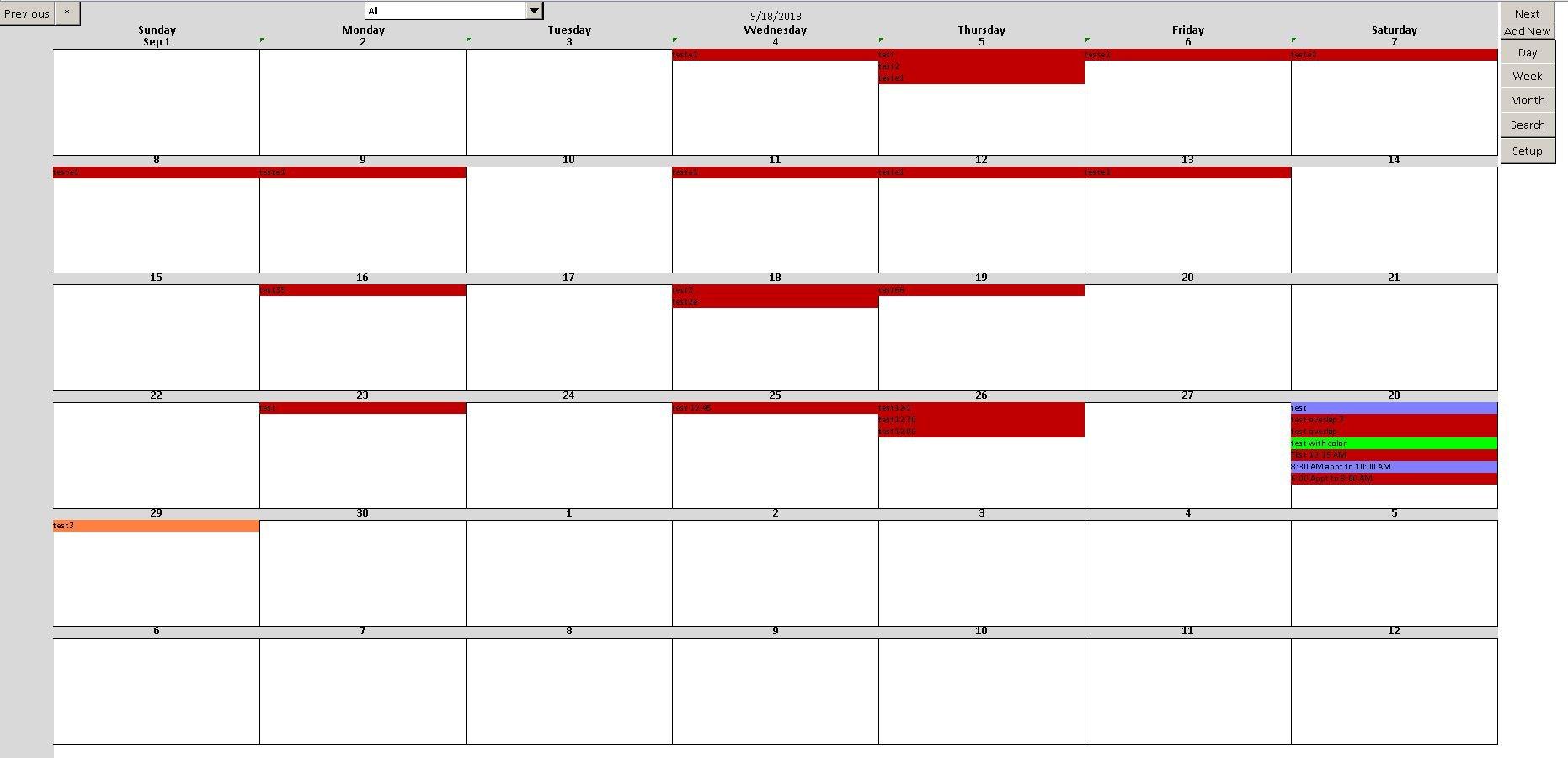 Enhanced Microsoft Excel Calendar Scheduling Database Template Free Excel Booking Calendar Template