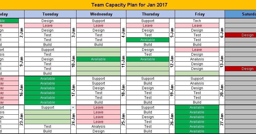 Excel Team Calendar Template Download: Plan Monthly Free Monthly Task Calendar Template