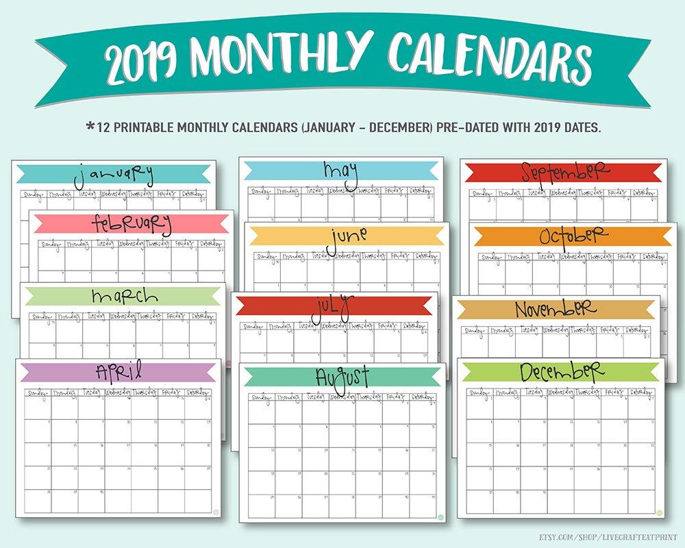 F/Free Printable 2016 Monthly Calendars 8 X 11 August 8X11 Sie Free April Calander