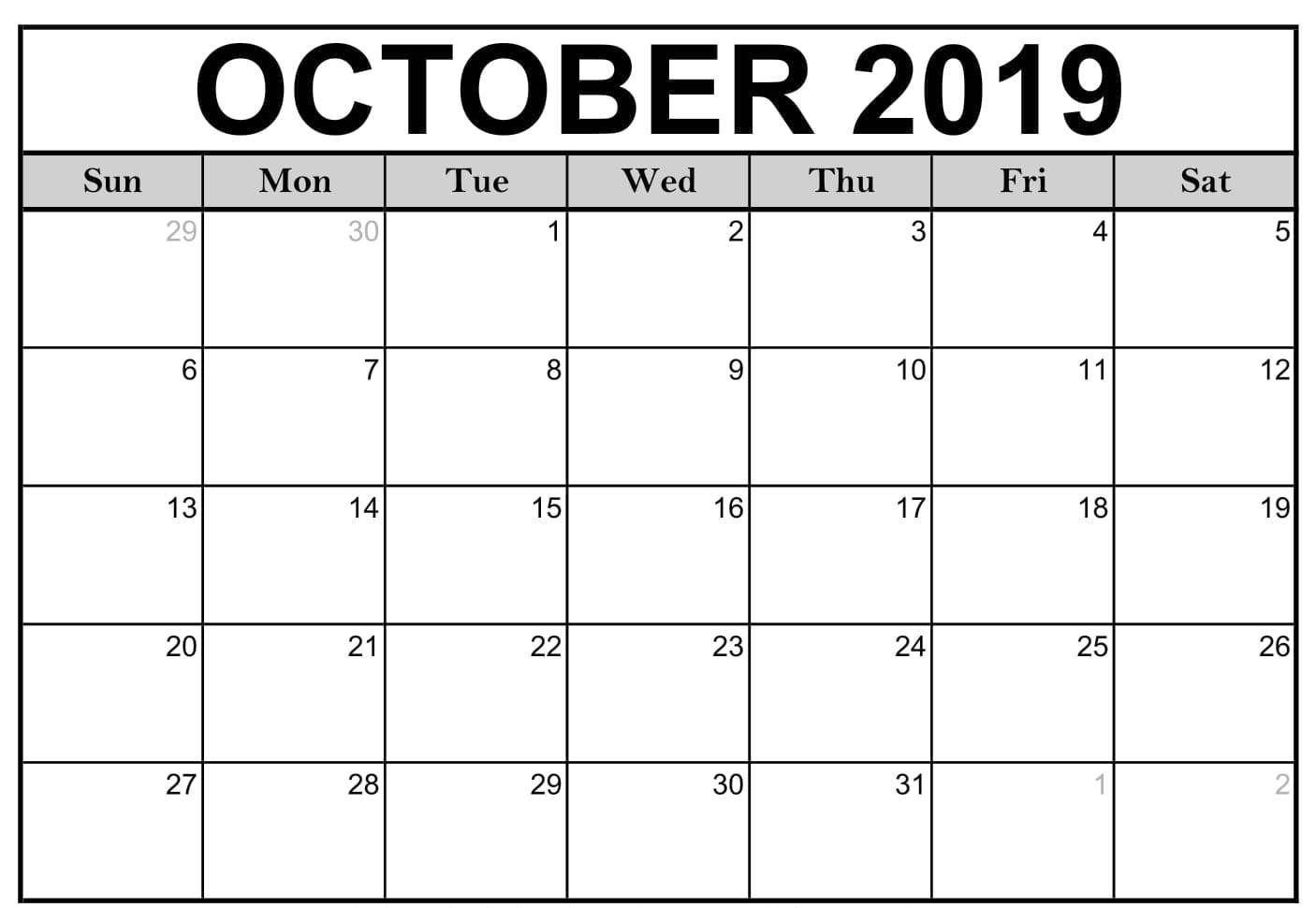 Fill In Calendar 2019 Pdf - Calendar Inspiration Design Calendar Fill In Pdf