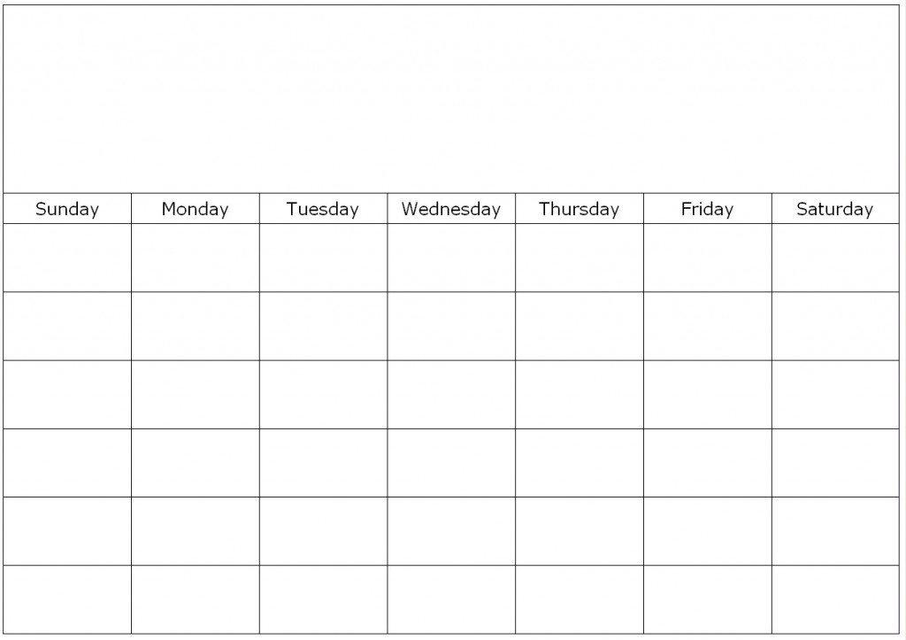 Fillable Blank Calendar Template :-Free Calendar Template Fill In Weekly Schedule