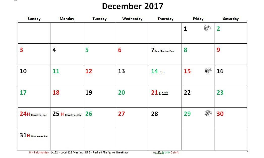 Firefighter Shift Schedule Tool :-Free Calendar Template Free Printable Shift Calendars