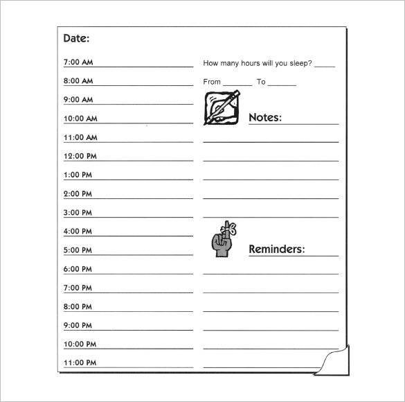Free 14+ Hourly Planner Samples And Templates In Pdf | Ms Free Daily Calendar 1/4 Hour