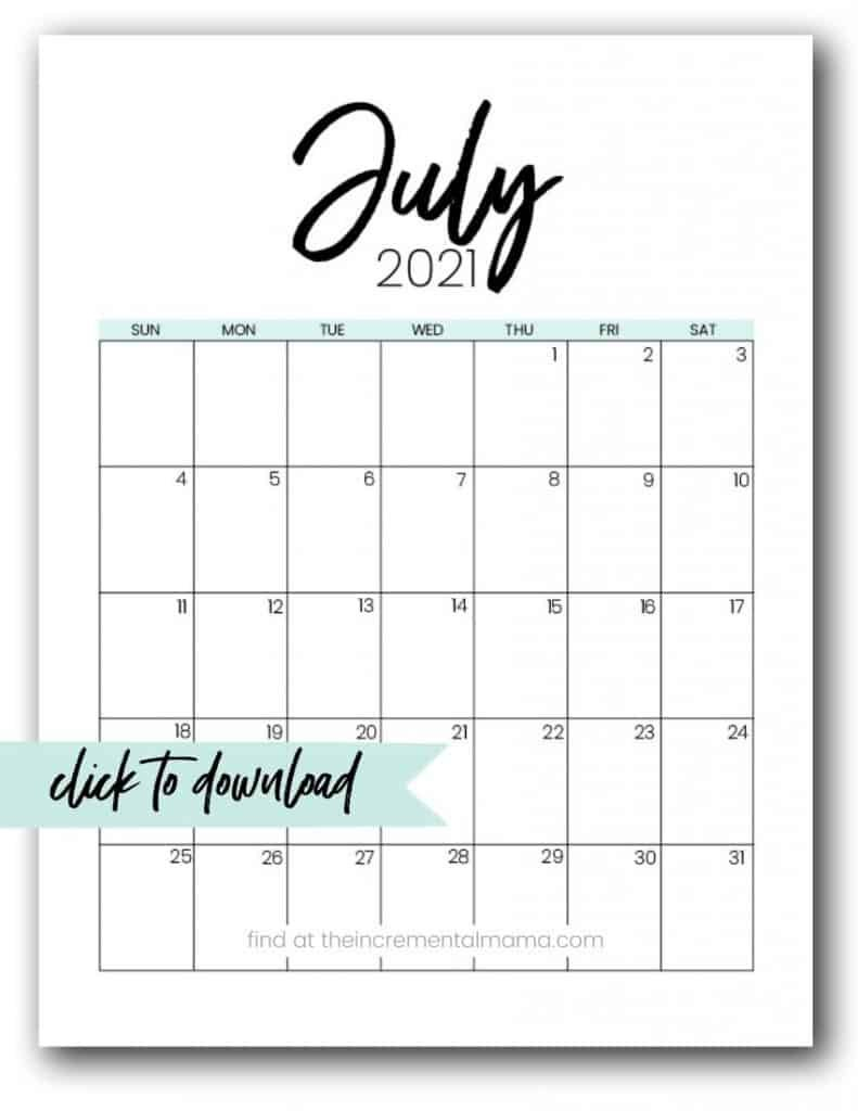 Free 2021 Monthly Calendar Printable Pdfs - The Diabeic Calenders To Write On Then Print It Out'