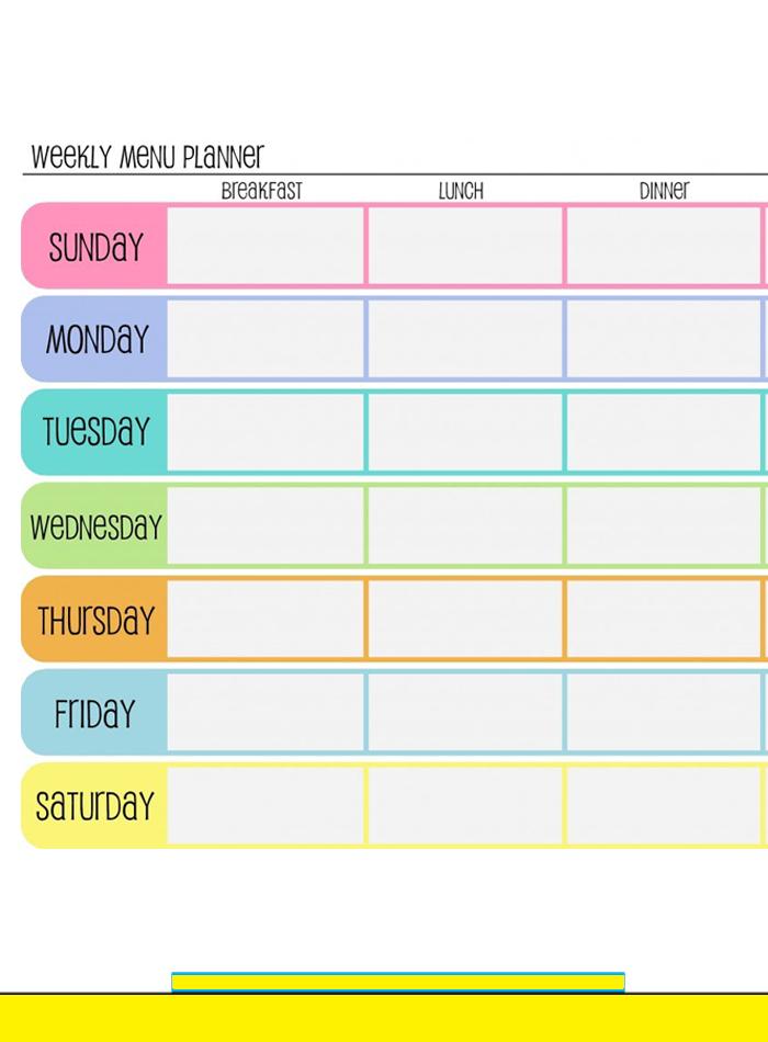 Free Blank Printable Weekly Calendar 2020 Template In Pdf One Week Schedule Printable