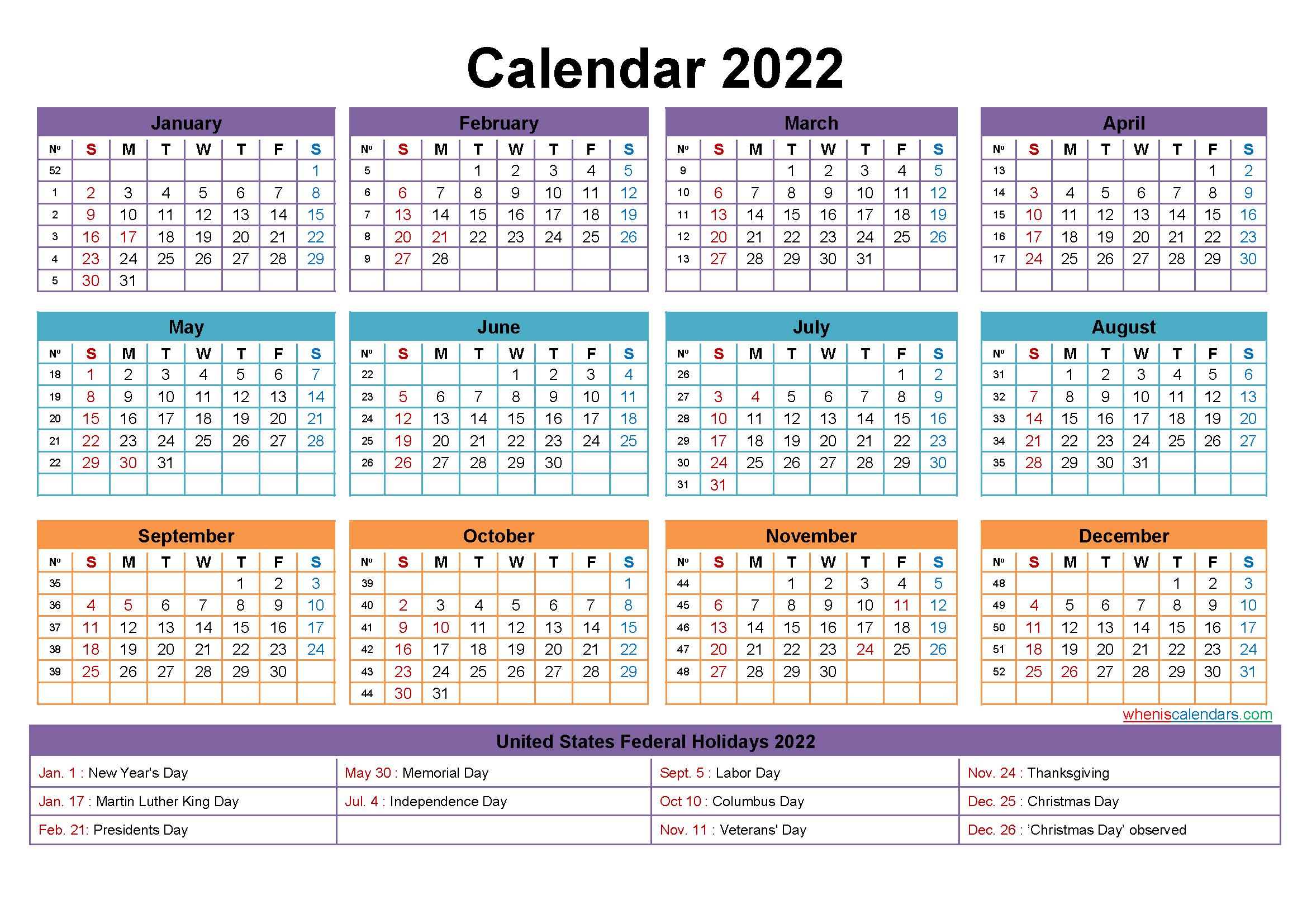 Free Editable Printable Calendar 2022 - Template No.ep22Y23 Editable 12 Month Calendar