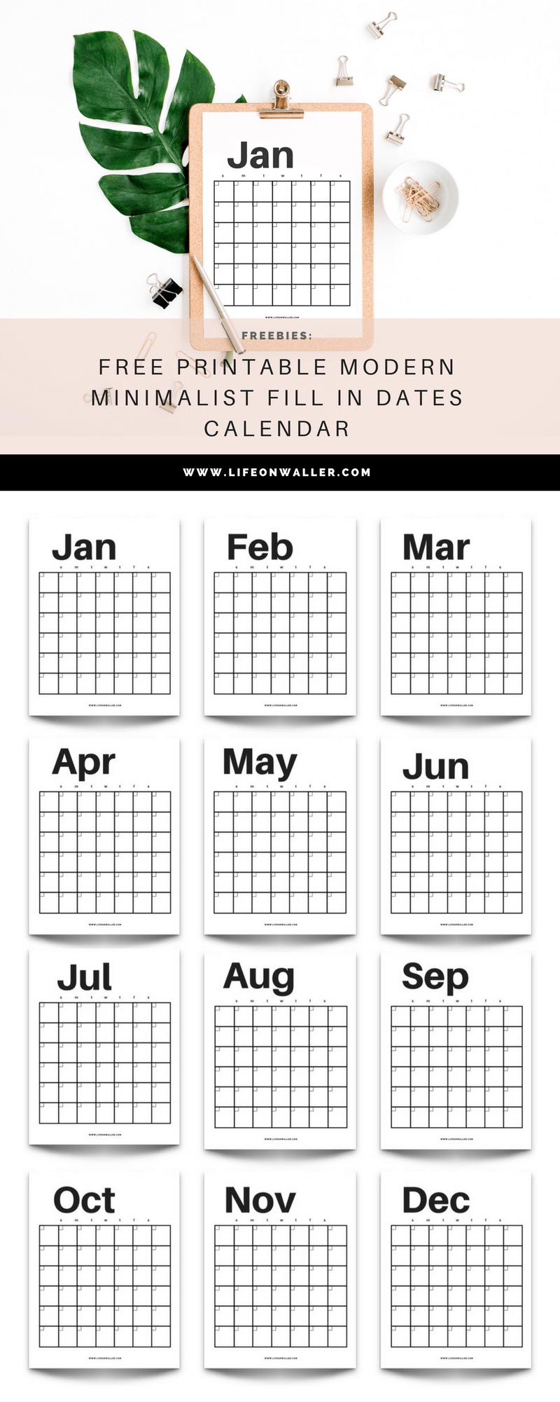 Free Fill In Printable Calendar | Calendar Printables Free Fill In Calendar Printable