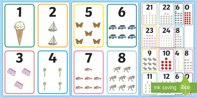 Free! - Number Picture Cards To 30 | Primary Teaching Free Printable Numbers Flashcards 1 To 31