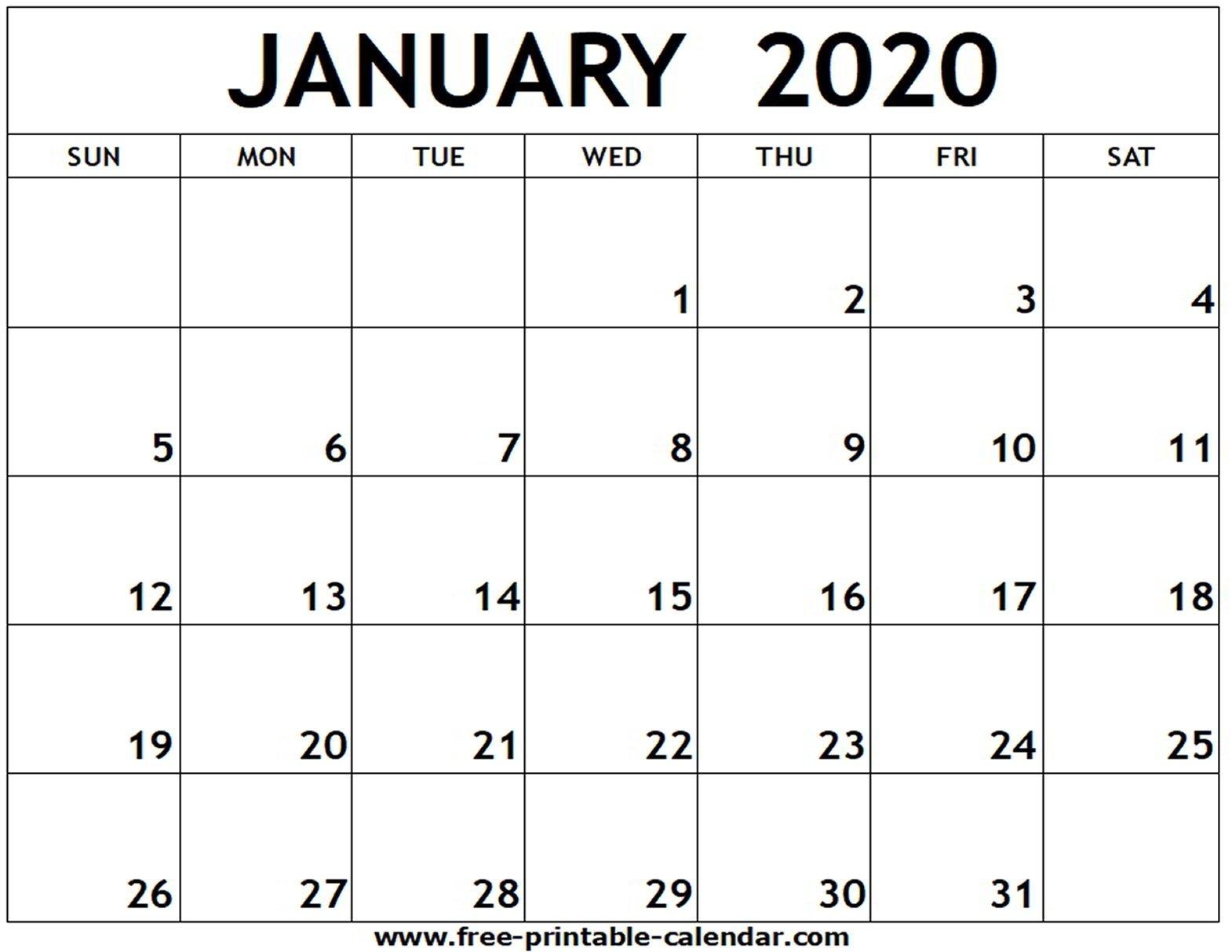 Free Printable 2020 Calendar To I Can Edit - Calendar Free Printable Calendar That I Can Edit