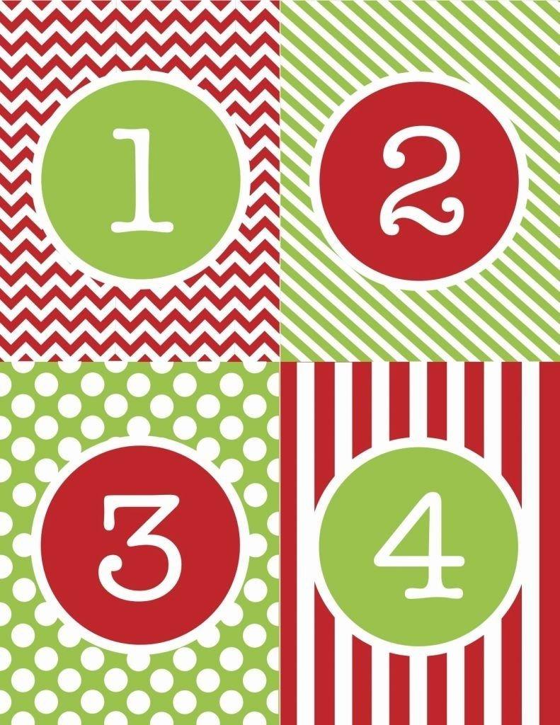 Free Printable Calendar Numbers 1-31 Pdf | Printable Printable Numbers 1 - 31