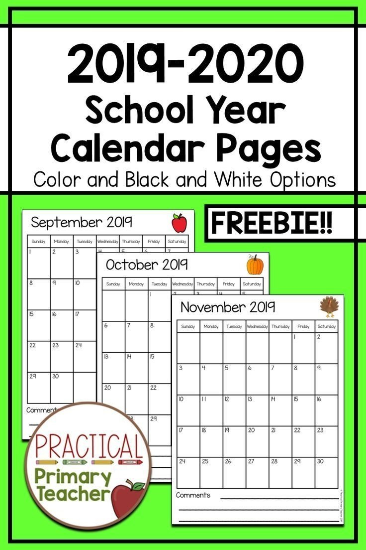 Free Printable Calendar Numbers For Teachers | Month Free Editable Preschool Calendar Template