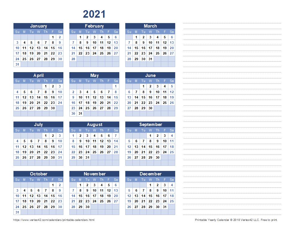 Free Printable Calendar - Printable Monthly Calendars Free Printable Calendar With Notes
