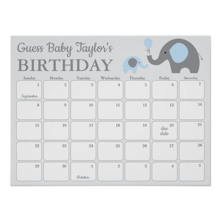 Free Printable Guess Baby Due Date Calendar Image Baby Calendar Free Guess