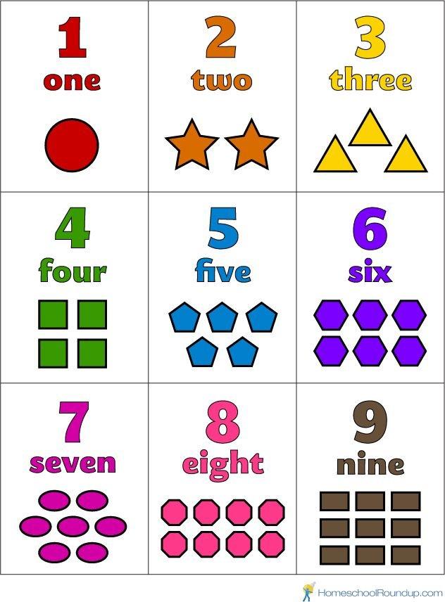 Free Printable Preschool Number Flash Cards | Numbers Large Printable Numbers 1 31