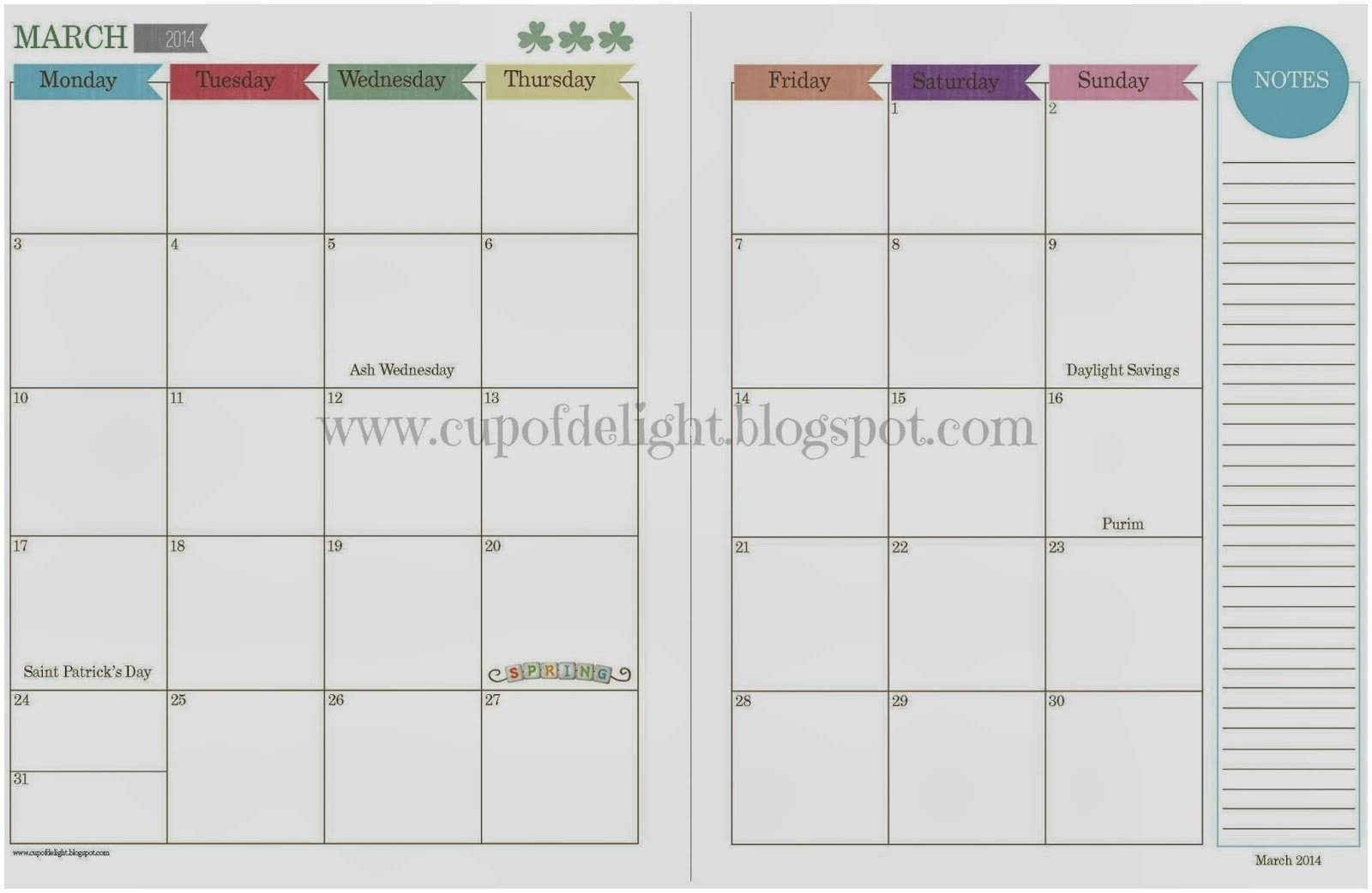 Free Two Page Monthly Planner Templates   Example Calendar 2 Page Monthly Calendar Free