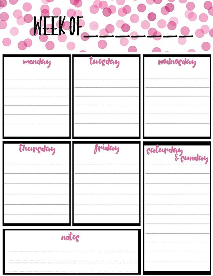 Free Weekly Calendar Planner Printable: Full And Half Size Printable Two Week Calendar Pages Free